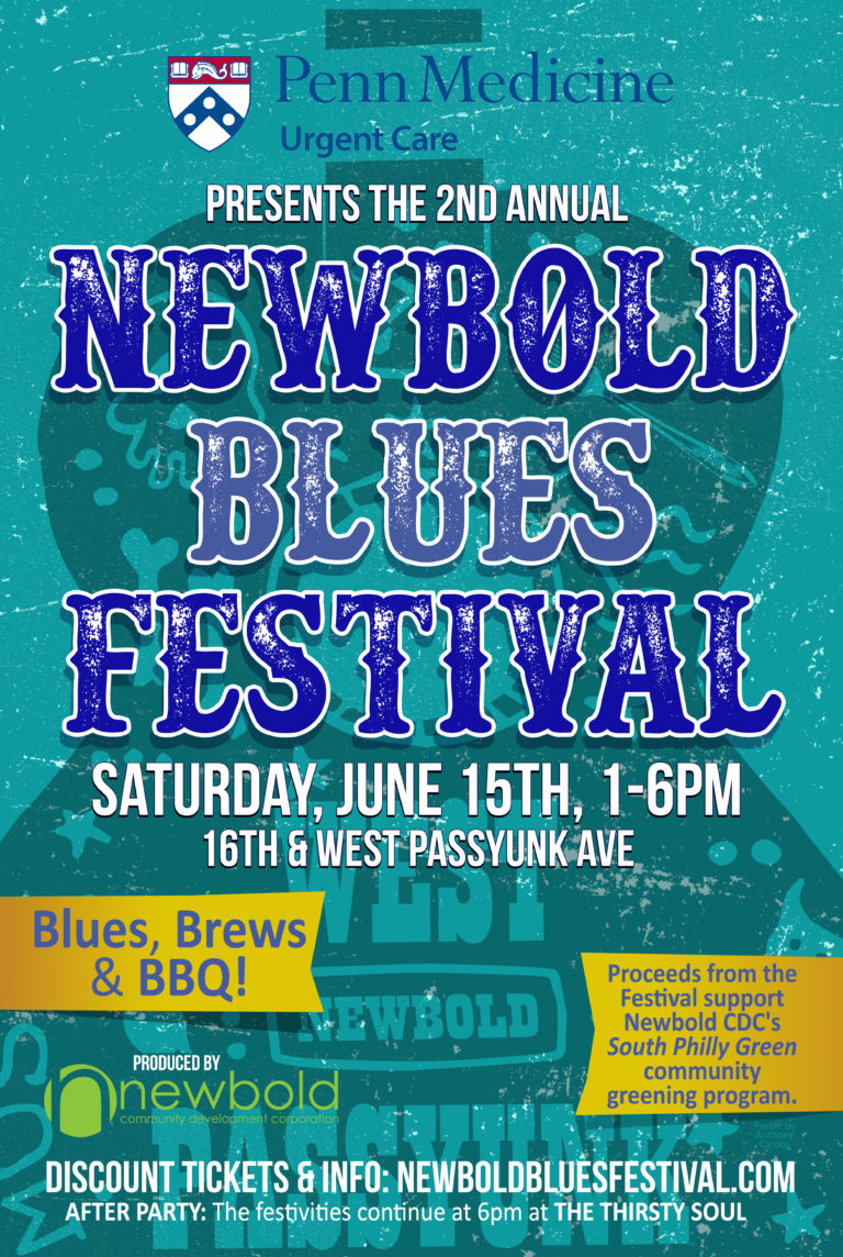 2019 Newbold Blues Fest poster by anthony caroto